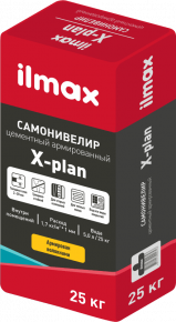 Самонивелир цементный армированный ilmax X-plan. РБ. 25 кг.